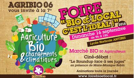 """Dimanche 16 septembre:<br/> Foire """"Bio et Local"""" à Antibes"""