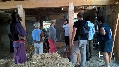 Visite d'une construction bois et paille