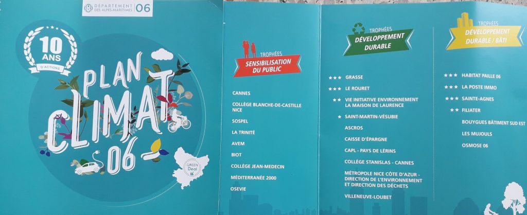 Liste des Trophées Plan Climat Energie